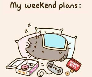 weekend, cat, and sleep image