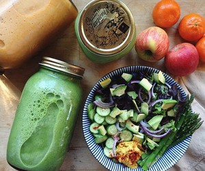 apples, avocado, and juice image