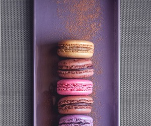 macarons, food, and sweet image