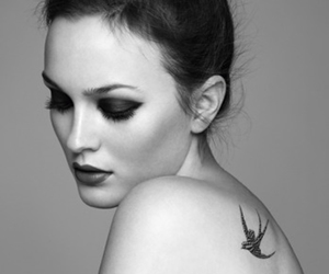 leighton meester, tattoo, and gossip girl image