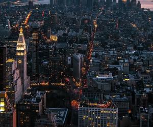 city, light, and landscape image