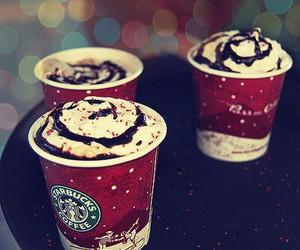 starbucks, christmas, and coffee image