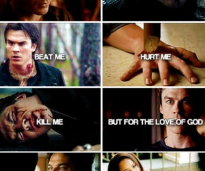 damon salvatore, tvd, and bonnie bennet image
