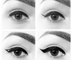 eyeliner and step by step image