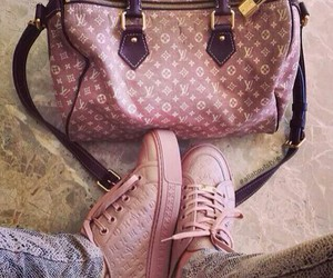 bag, shoes, and Louis Vuitton image