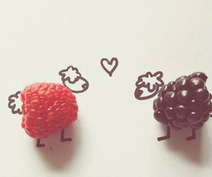 love, sheep, and fruit image