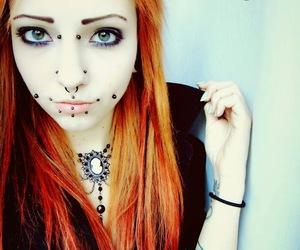 Piercings, alt girl, and orange hair image