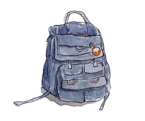 overlay, cute, and backpack image
