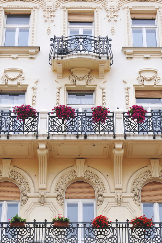 architecture, flowers, and balcony image