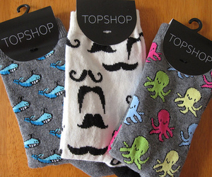 socks, topshop, and whale image