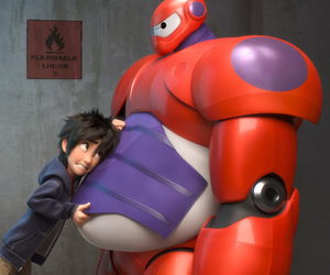 cute robot, friends, and baymax image