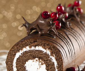 chocolate, roll, and cake image