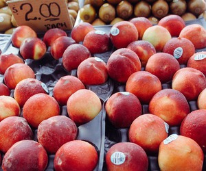 fruit, peach, and healthy image