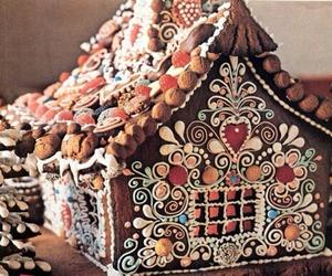 christmas, gingerbread house, and food image