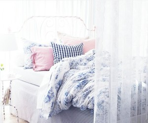 bedroom, beautiful, and pillow image