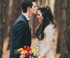 love, couple, and dress image