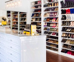 clean, closet, and high heels image
