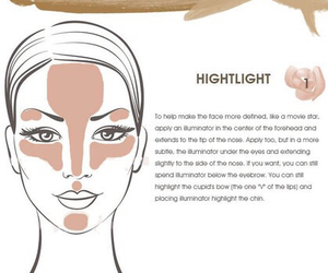 contour, highlight, and make-up image