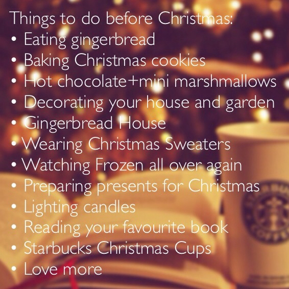 Christmas Things To Do.Things To Do Before Christmas On We Heart It