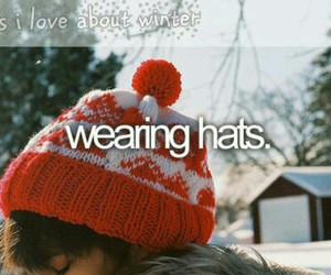 winter, hats, and wearing image