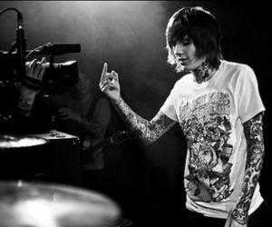boy, tatto, and bring me the horizon image