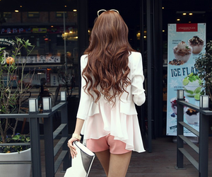 back, hairstyle, and korean image