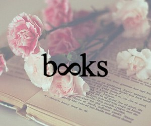 book, flowers, and infinity image