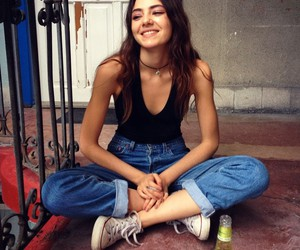 girl, smile, and jeans image