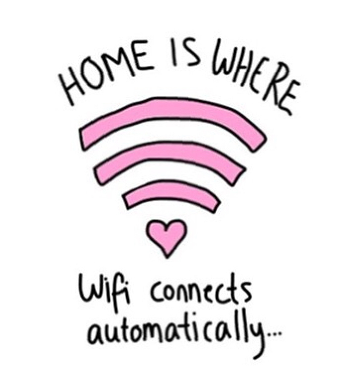 home, wifi, and connects image
