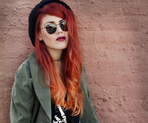 girl, fashion, and red hair image
