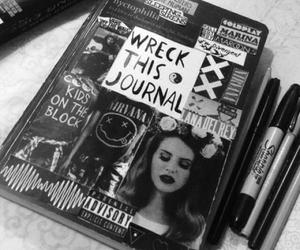 black, grunge, and journal image