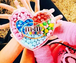 colorful, m&ms, and yumm image