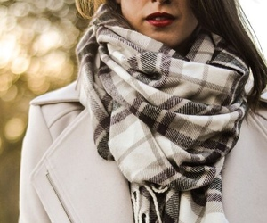 scarf, winter, and coat image