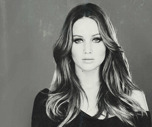 Jennifer Lawrence, black and white, and the hunger games image