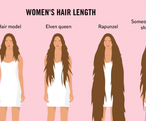 infographic, long hair, and truth image