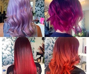 color hair, hair, and pink hair image