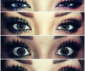 beauty, eye makeup, and cute image