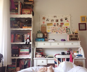 bedroom, book, and inspiration image