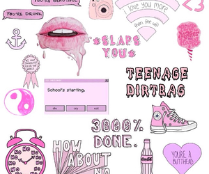 converse, cool, and pink image