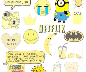 yellow, minions, and banana image