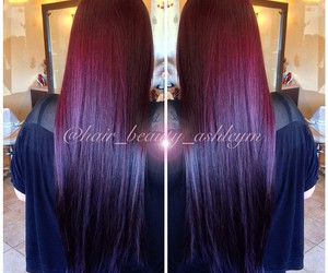 hairdresser, straight hair, and ombre hair image