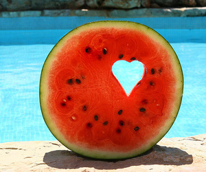 watermelon and heart image