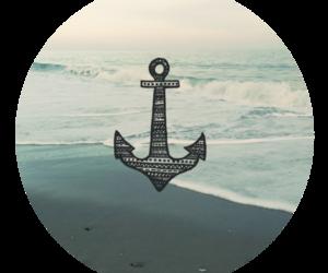 sea, anchor, and beach image