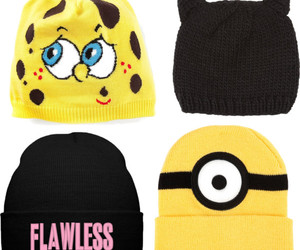 beanie, fashion, and minions image