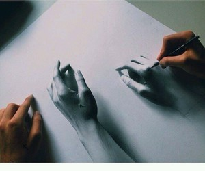 hands, drawing, and art image