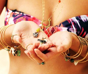 acessories, bracelets, and necklace image
