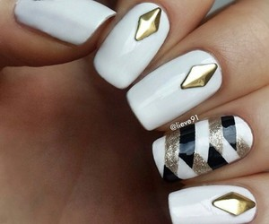 nails, nice, and white image