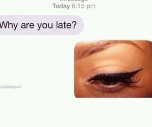 funny, eyebrows, and eyeliner image