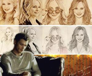 caroline, klaus, and drawing adorable image