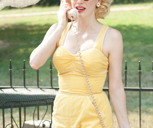 the help, vintage, and yellow image